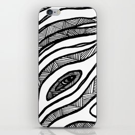 Organic Black & White lines iPhone Skin