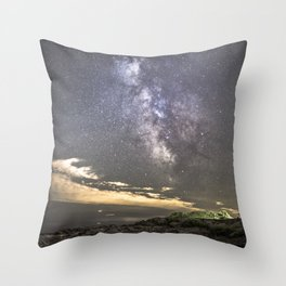 Milkyway at the Backshore Throw Pillow