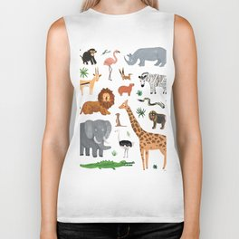 Safari Animals Biker Tank