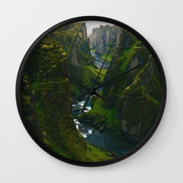 River in the Valley (Color) Wall Clock
