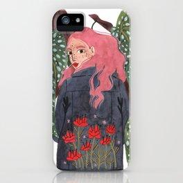 Holding plant iPhone Case