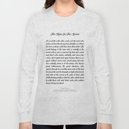 The Man In The Arena by Theodore Roosevelt Long Sleeve T-shirt