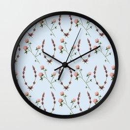 Clover & Lavender Wall Clock