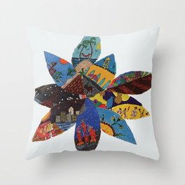 life petals Throw Pillow