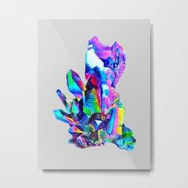 Rainbow Aura Quartz Crystal Metal Print