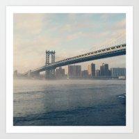 brooklyn Art Prints featuring Brooklyn  by Cristina Sandia