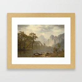 ALBERT BIERSTADT, IN THE YOSEMITE VALLEY Framed Art Print