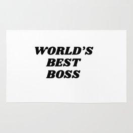 world's best boss Rug