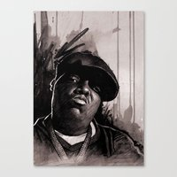 biggie Canvas Prints featuring BIGGIE by ChrisGreavesCreative