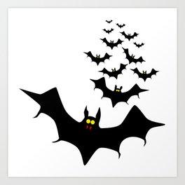 Vampire Bats Art Print