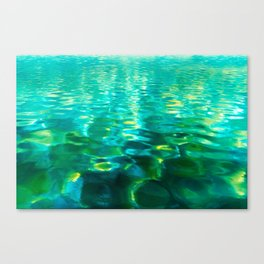 Blue Green Water Canvas Print