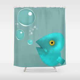 Silent as a Fish Shower Curtain