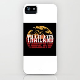 Thailand Palm Tree Holiday Motif Gift Idea Design iPhone Case