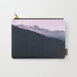Mountain Forest Sky Pink Pastel Carry-All Pouch