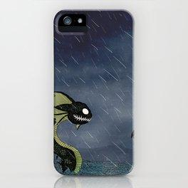 Sea Serpent & Viking Longboat iPhone Case