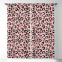 Leopard Print - Icy Peach Blackout Curtain