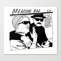 sonic youth Canvas Prints featuring breaking bad vs. sonic youth by carolin walch