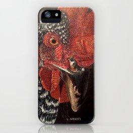 Chicken Hen Animal Portrait iPhone Case