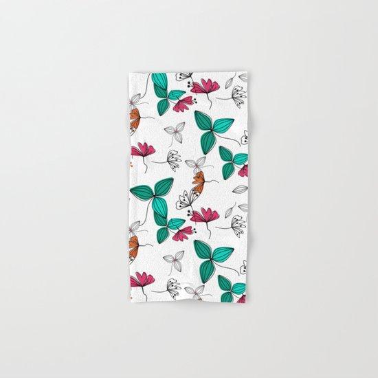 Retro .Floral pattern Rustic Hand & Bath Towel