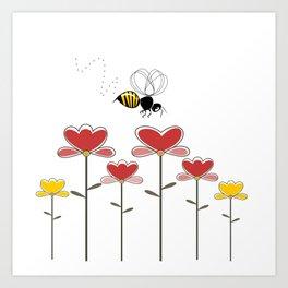 Bee loved Art Print