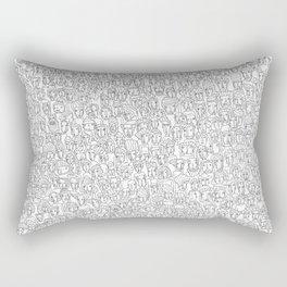 1000 imaginary friends and one bear Rectangular Pillow
