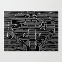 millenium falcon Canvas Prints featuring Millenium division by BomDesignz