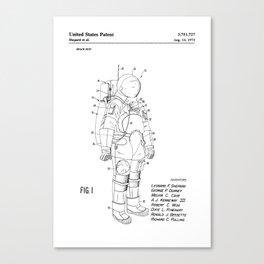 NASA Space Suit Patent Canvas Print