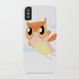 Orange Owl iPhone Case