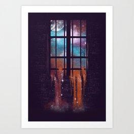 Let the Stars Flow Into You V.2 Art Print