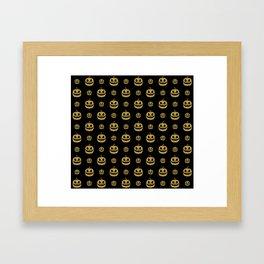 gold glitter pumpkin pattern Framed Art Print
