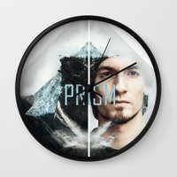 prism Wall Clocks featuring Prism by Prism