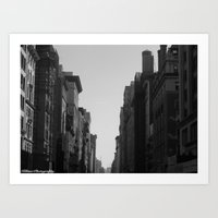broadway Art Prints featuring Broadway by Loved and Lost