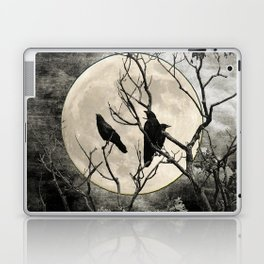 Black White Crows Birds Tree Moon Landscape Home Decor Matted Picture Print A268 Laptop & iPad Skin