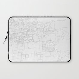 Abstract Map of UC Berkeley Campus Laptop Sleeve