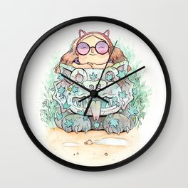 Ancient cats Wall Clock