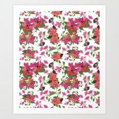 April blooms(Bougainvillea) Art Print