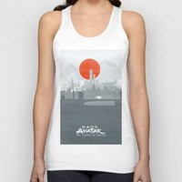the legend of korra Tank Tops featuring Avatar The Legend of Korra Poster by Fabio Castro