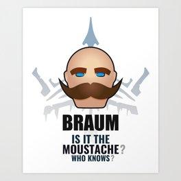 Braum w/ quote Art Print