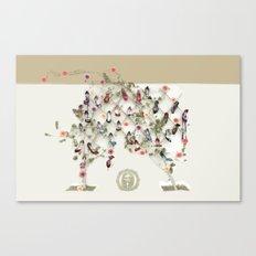 Spring shoe tree Canvas Print