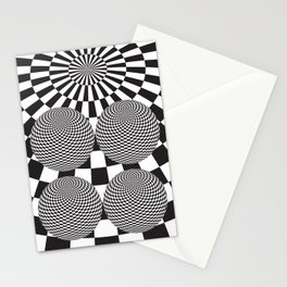 Squares On The Ball Stationery Cards