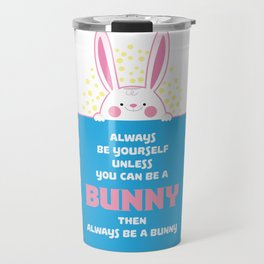 Bunny Pyjama Pun design I Sweet Rabbit Gift Travel Mug