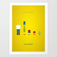 simpsons Art Prints featuring Simpsons by Jana Costa