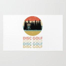 Disc Golf Discgolf Vintage Design Rug