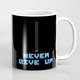 Never Give Up - Mega Man Coffee Mug