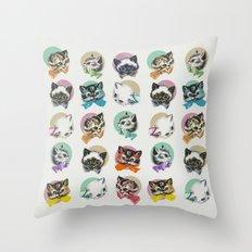 Cats & Bowties Throw Pillow
