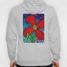 Lady In Red - Big bold beautiful Red poppy by Labor Of Love artist Sharon Cummings. Hoody