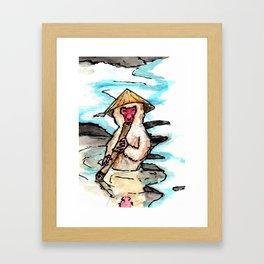 At the Baths... Framed Art Print