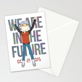 Marty McFly in the Future Stationery Cards