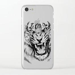Tiger Portrait Animal Design Clear iPhone Case