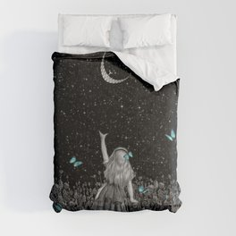 Wonderland Smiling Starry Night II - Alice In Wonderland Comforters